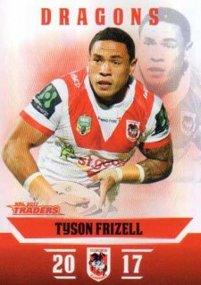 2017 NRL Traders Parallel Pearl Series PS126 Tyson Frizell Dragons