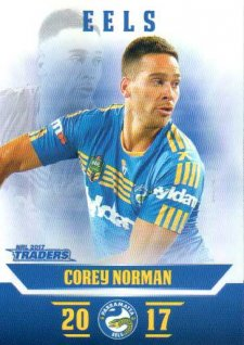 2017 NRL Traders Parallel Pearl Series PS98 Corey Norman Eels
