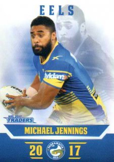 2017 NRL Traders Parallel Pearl Series PS95 Michael Jennings Eels