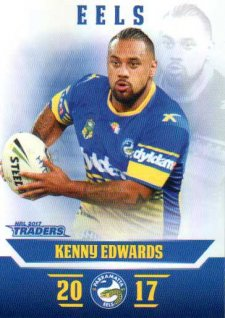 2017 NRL Traders Parallel Pearl Series PS92 Kenny Edwards Eels