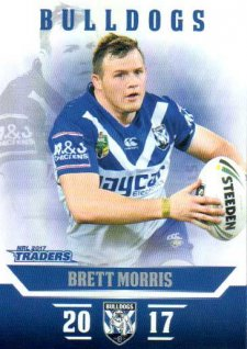 2017 NRL Traders Parallel Pearl Series PS28 Brett Morris Bulldogs