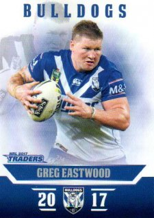 2017 NRL Traders Parallel Pearl Series PS22 Greg Eastwood Bulldogs