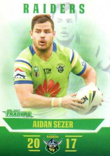 2017 NRL Traders Parallel Pearl Series PS18 Aiden Sezer Raiders