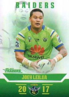 2017 NRL Traders Parallel Pearl Series PS16 Joey Leilua Raiders