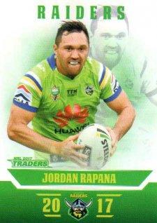 2017 NRL Traders Parallel Pearl Series PS17 Jordan Rapana Raiders