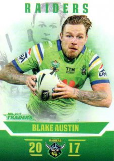 2017 NRL Traders Parallel Pearl Series PS12 Blake Austin Raiders