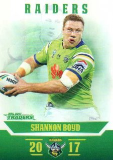 2017 NRL Traders Parallel Pearl Series PS13 Shannon Boyd Raiders