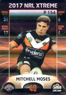 2017 NRL Xtreme Parallel P154 Mitchell Moses Wests Tigers