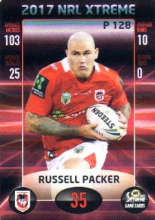 2017 NRL Xtreme Parallel P128 Russell Packer Dragons