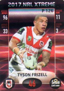 2017 NRL Xtreme Parallel P126 Tyson Frizell Dragons