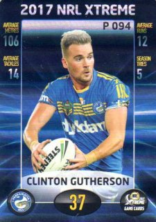 2017 NRL Xtreme Parallel P94 Clinton Gutherson Eels