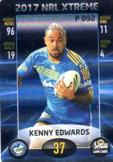2017 NRL Xtreme Parallel P92 Kenny Edwards Eels