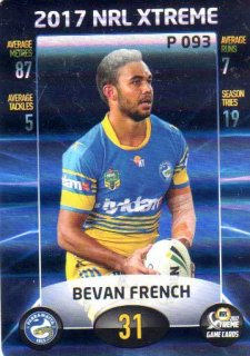 2017 NRL Xtreme Parallel P93 Bevan French Eels