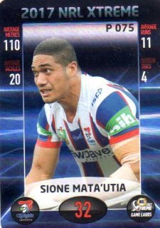 2017 NRL Xtreme Parallel P75 Sione Mata'Utia Knights