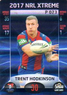 2017 NRL Xtreme Parallel P73 Trent Hodkinson Knights