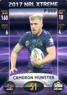 2017 NRL Xtreme Parallel P68 Cameron Munster Storm