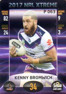 2017 NRL Xtreme Parallel P63 Kenny Bromwich Storm