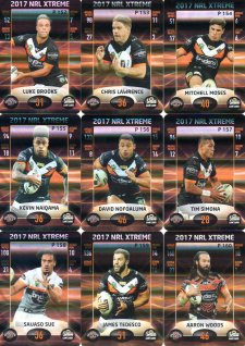 2017 NRL Xtreme Parallel Team Set Wests Tigers