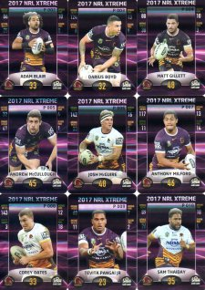 2017 NRL Xtreme Parallel Team Set Brisbane Broncos