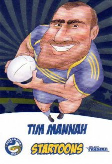 2017 NRL Traders Startoons Album Version STA11 Tim Mannah Eels