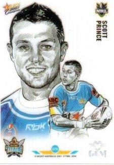 2007 NRL Champions Gem Card #GC16 Scott Prince Titans