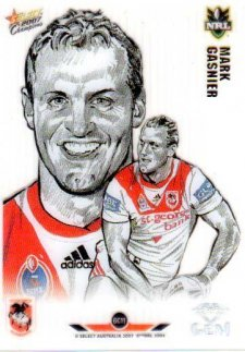 2007 NRL Champions Gem Card #GC11 Mark Gasnier Dragons