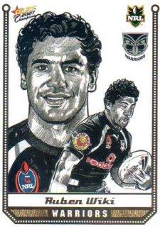 2007 NRL Champions Sketch Card #SK29 Ruben Wiki Warriors