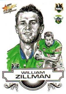 2008 NRL Champions Sketch Card #SK6 William Zillman Raiders