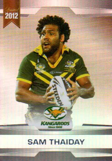 2012 NRL Limited Edition Parallel P9 Sam Thaiday Broncos Australia