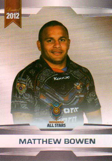2012 NRL Limited Edition Parallel P50 Matthew Bowen Cowboys All Star