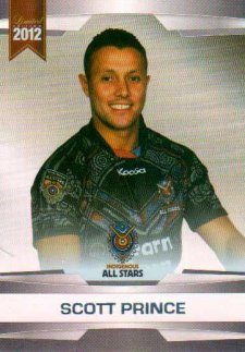 2012 NRL Limited Edition Parallel P56 Scott Prince Titans All Star