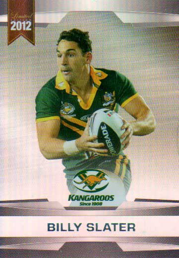 2012 NRL Limited Edition Parallel P7 Billy Slater Storm Australia