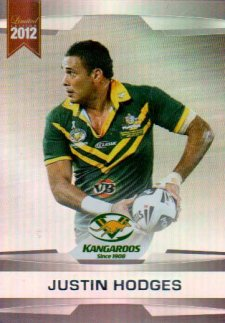 2012 NRL Limited Edition Parallel P5 Justin Hodges Broncos Australia