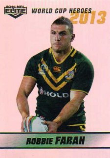 2014 NRL Elite World Cup Heroes Parallel #WCHP8 Robbie Farah Tigers Australia