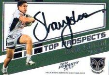 2012 NRL Dynasty Top Prospects Signature TPS15 Shaun Johnson Warriors