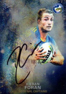 2016 NRL Elite 2016 Captains *Artist Signed* Kieran Foran Eels