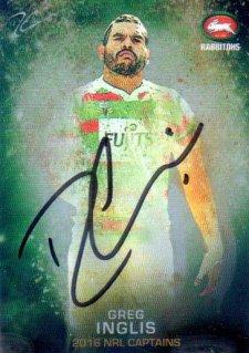 2016 NRL Elite 2016 Captains *Artist Signed* Greg Inglis Rabbitohs