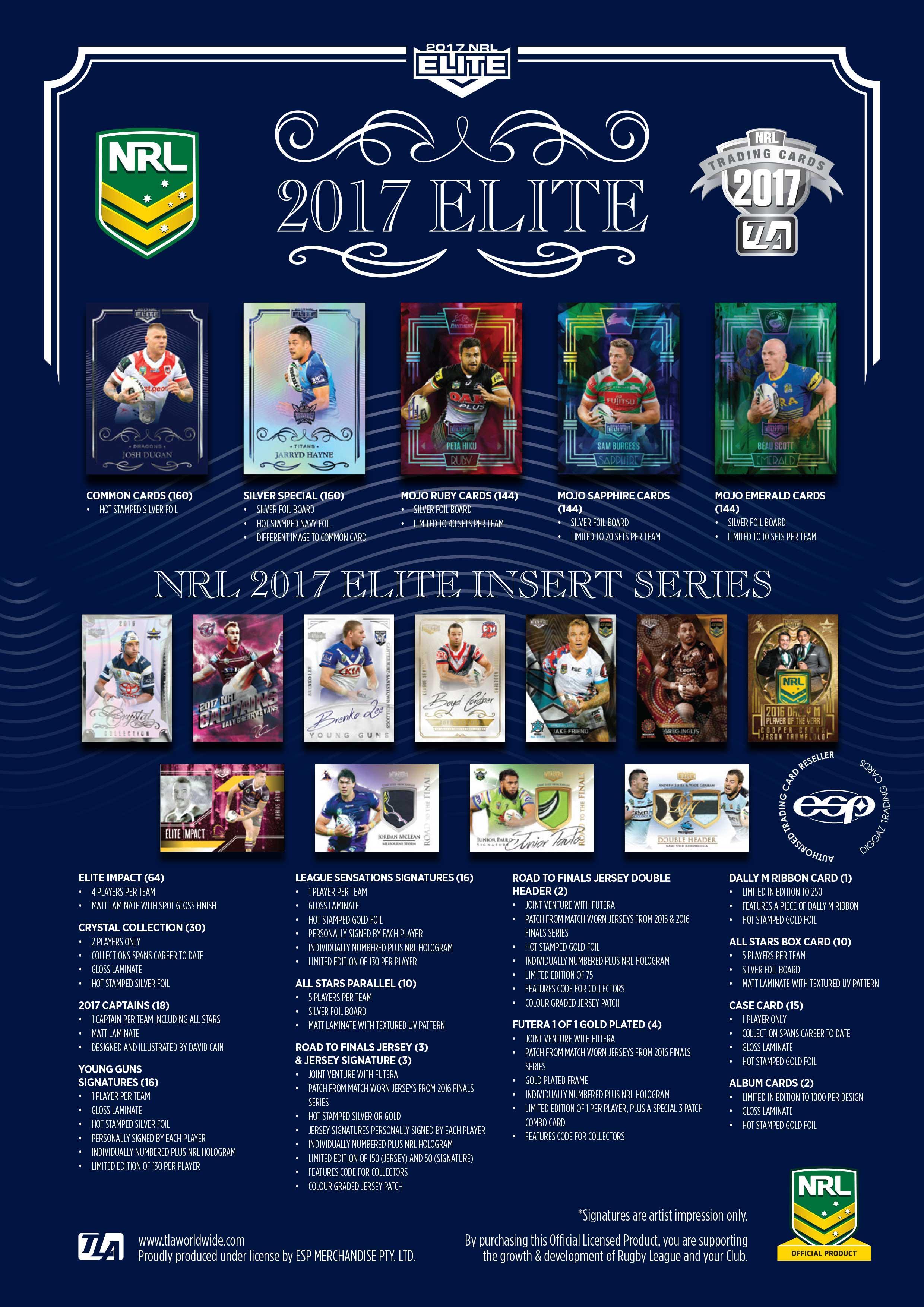 2017 NRL Elite | Diggaz Trading Cards