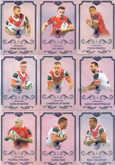2017 NRL Elite Silver Special Parallel 10-Card Team Set St George Dragons