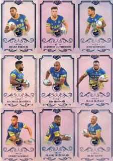 2017 NRL Elite Silver Special Parallel 10-Card Team Set Parramatta Eels