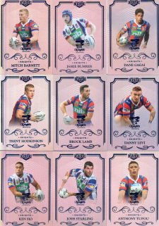 2017 NRL Elite Silver Special Parallel 10-Card Team Set Newcastle Knights