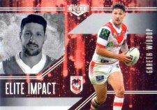 2017 NRL Elite Impact EI52 Gareth Widdop Dragons