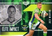 2017 NRL Elite Impact EI8 Jack Wighton Raiders