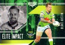 2017 NRL Elite Impact EI5 Blake Austin Raiders