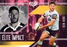 2017 NRL Elite Impact EI2 Ben Hunt Broncos