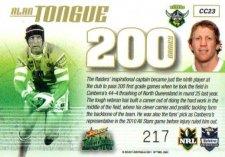 2011 NRL Champions Case Card CC23 Alan Tongue Raiders #217