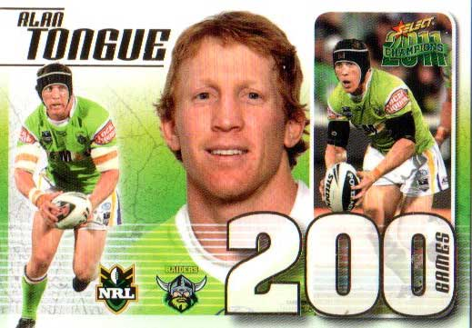 2011 NRL Champions Case Card CC23 Alan Tongue Raiders #217