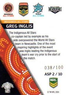 2017 NRL Elite All Stars Parallel ASP2 Greg Inglis Rabbitohs #38/100