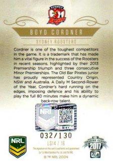 2017 NRL Elite League Sensations Signature LS14 Boyd Cordner Roosters #32/130