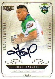 2017 NRL Elite League Sensations Signature LS2 Josh Papalii Raiders #92/130